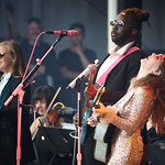 Sat, 15/06/2019 - 6:56am - Live on WFUV Radio, Jenny Lewis and her band at Forest Hills Stadium in Queens, NY on June 15, 2019. Photo by Gus Philippas/WFUV