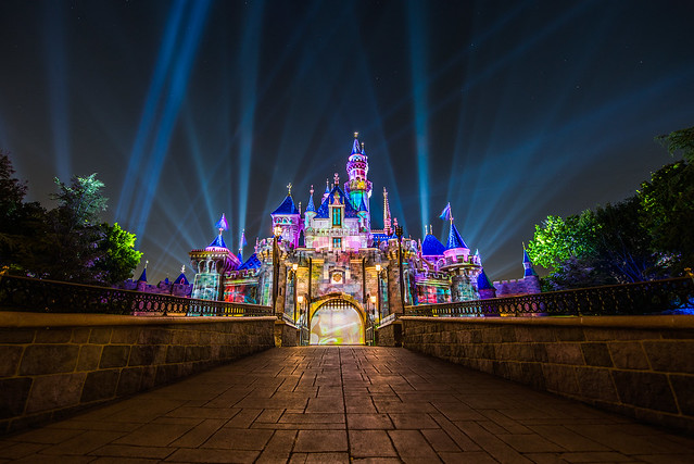 Mickey's Mix Magic - Disneyland - Just before the fireworks begins.