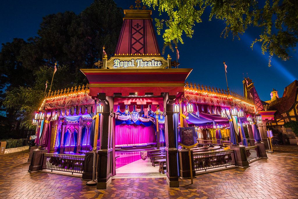 _DSC9260 by George Landis   Via Flickr:  Disneyland at Night - Royal Theatre