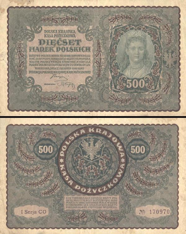500 Marek Poľsko 1919, P28