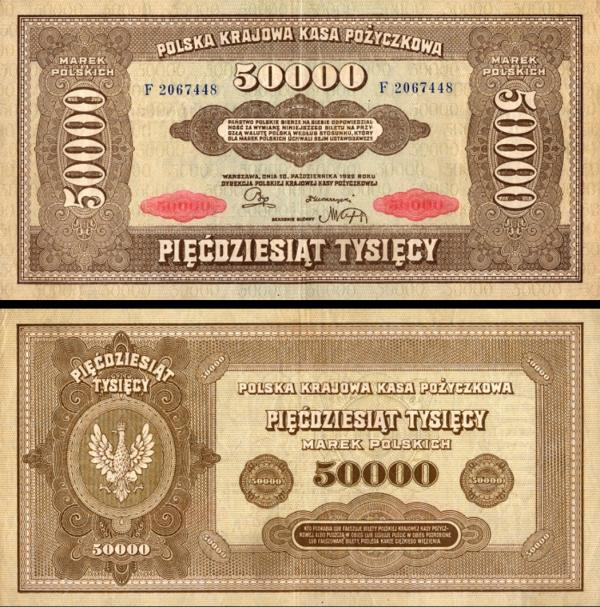 50 000 Mariek Poľsko 1922, P32