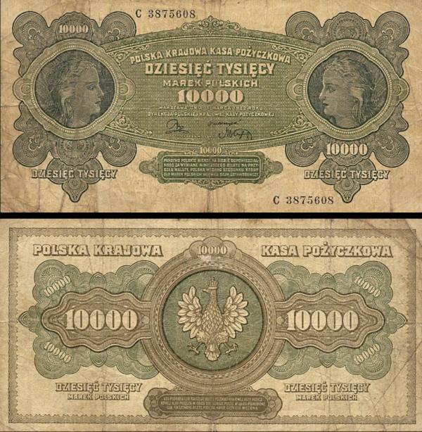 10 000 Mariek Poľsko 1922, P32
