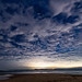 Clouds and Stars Nightscape at the Beach