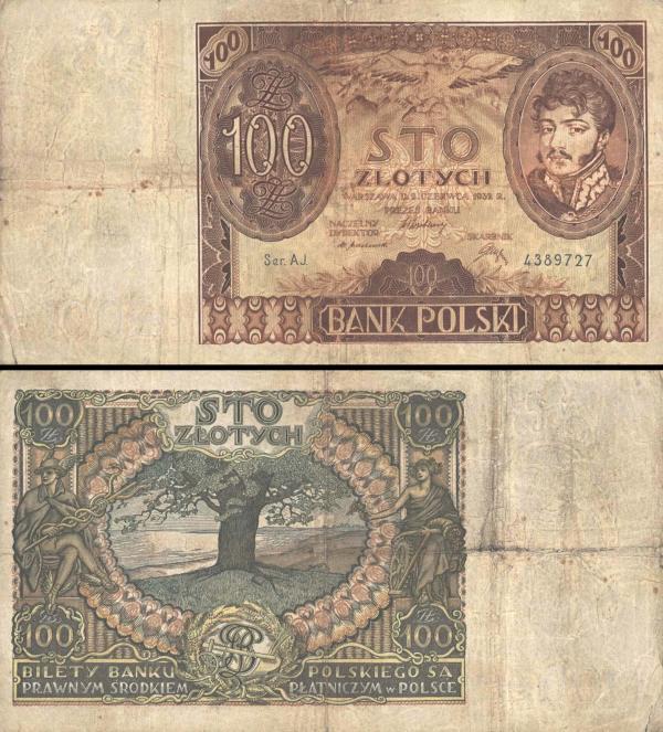 100 Zlotých Poľsko 1932, P74a