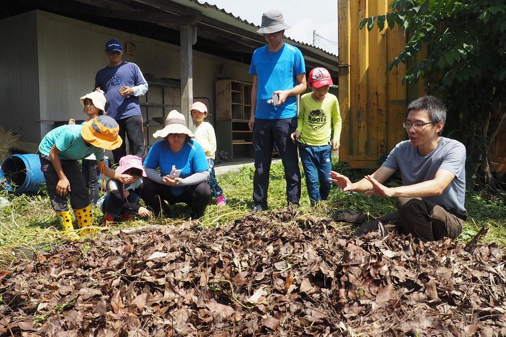 野望生態顧問公司在美濃有塊田舉辦認識土壤動物的體驗活動。攝影:李育琴