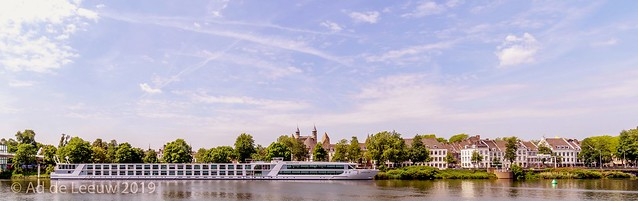 Riverboat on the river Maas ( Meuse )