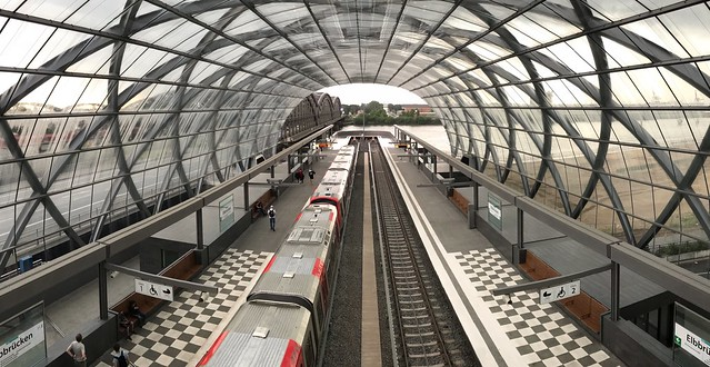 "Subway station ""Elbbrücken"", Hamburg"