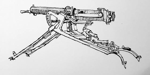German MG08 machine gun, Imperial War Museum, London