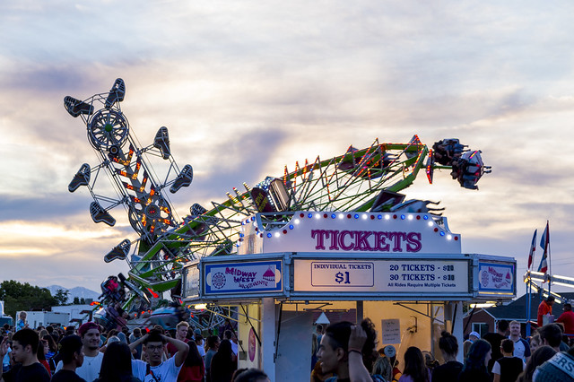 Night Rides at the Summerfest Carnival