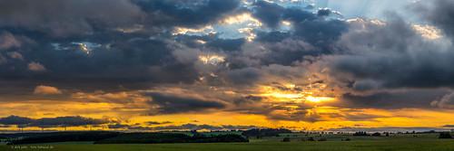 sunset evening drama clouds sonnenuntergang wolken abend sachsen saxonia germany deutschland landschaft lansdscape panorama panoramic pano sky sun himmel sonne
