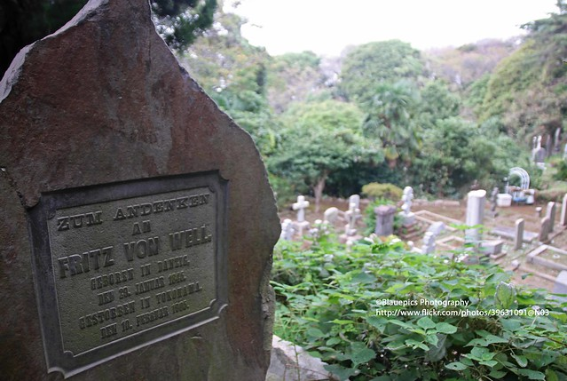 Yokohama, Foreign general cemetery, tomb Fritz von Well_