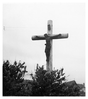 VINTAGE CRUCIFIXION.  1956 . CORNWALL. INFORMATION WELCOME.