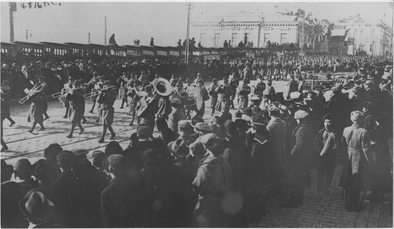 15. 1918. Американский военный оркестр