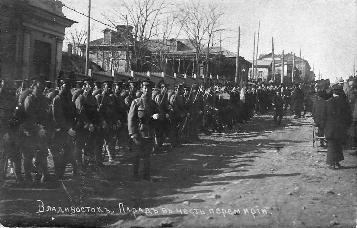 11. 1918. Построение китайских войск перед парадом. 15 ноября