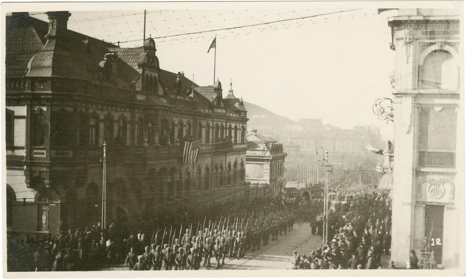 27. 1918. Солдаты и казаки войск Белой армии. 15 ноября