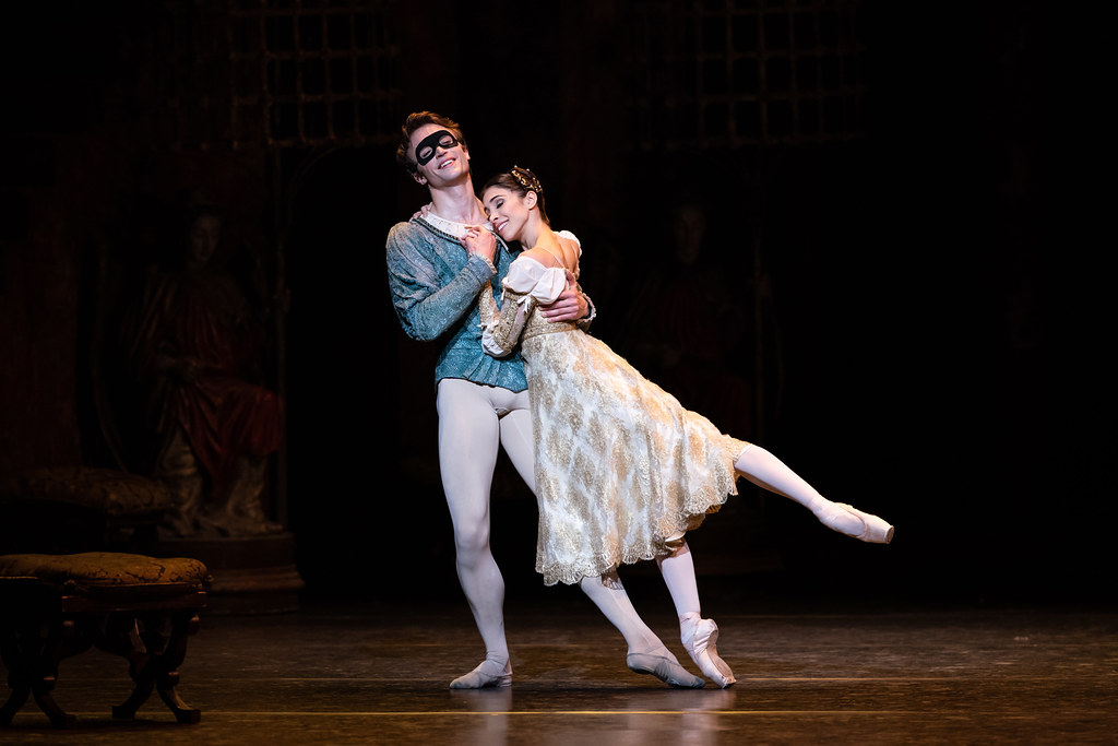 Matthew Ball as Romeo and Yasmine Naghdi as Juliet in Romeo and Juliet, The Royal Ballet © 2019 ROH. Photograph by Helen Maybanks