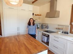 Marisa en su cocina