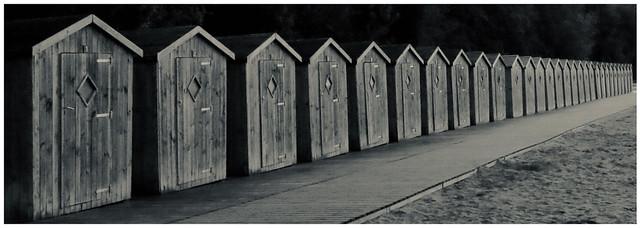Les sombres cabines de Saint-Valery-sur-Somme