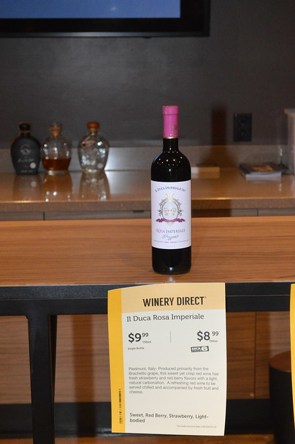 One of the wines tasted at the January 29, 2019 event at Total Wine and More