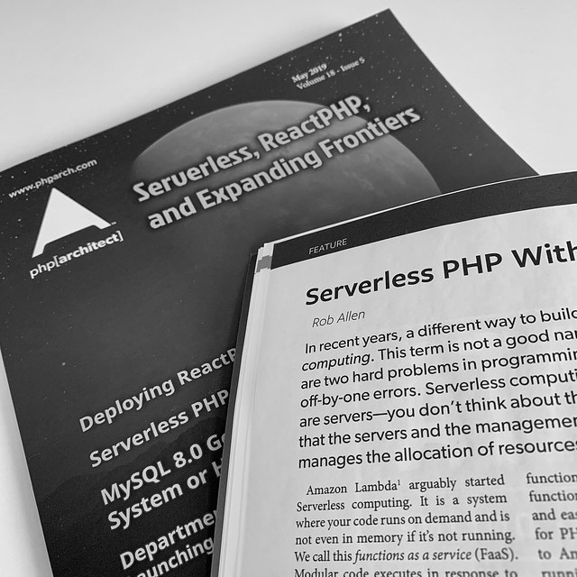 My Serverless PHP article in print