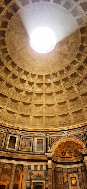 Oculus atop the Pantheon in Rome