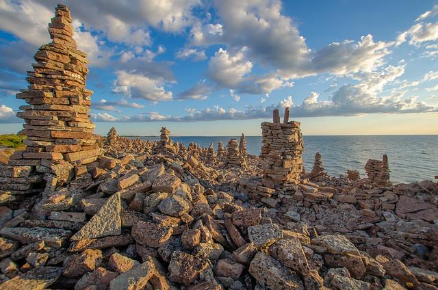 Heaps of stones