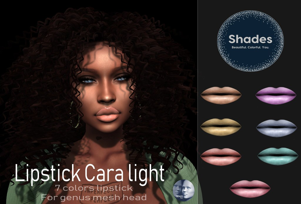 Shades – Genus lipstick Cara light add