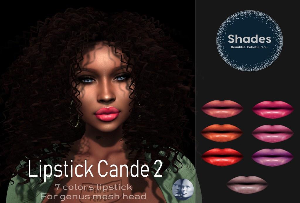 Shades – Genus lipstick Cande 2