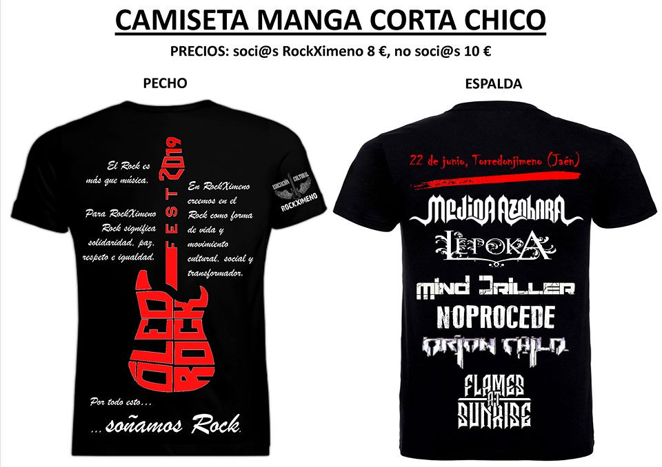 oleo rock camiseta