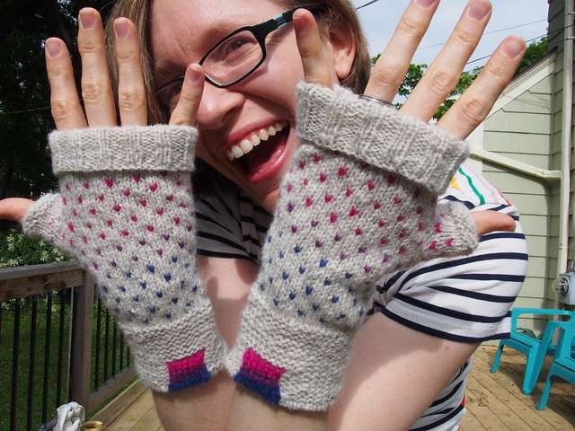 Showing off my Joy mitts