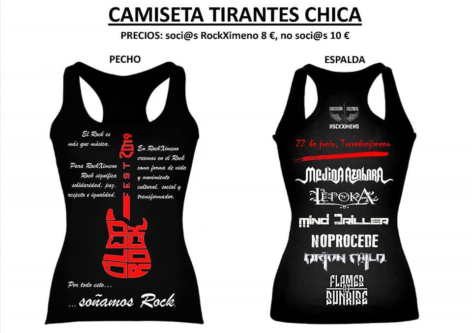 oleo rock camiseta chica
