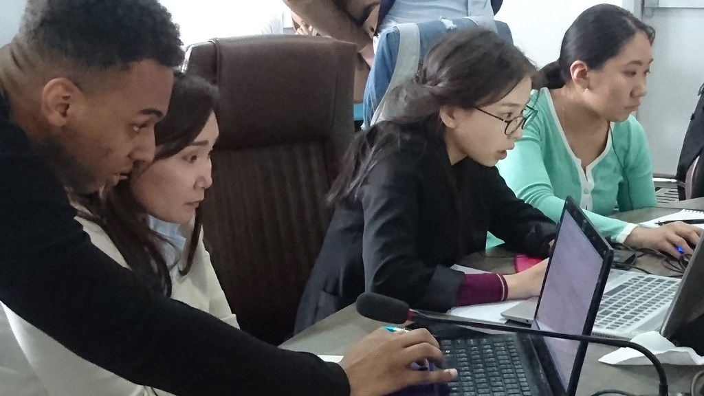 SAMBa student delivering statistical applied mathematics training in Ulaanbaatar