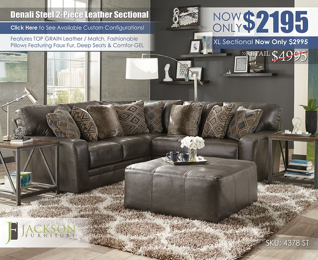 Denali 2PC Sectional_4378_denali_steel_ju1395