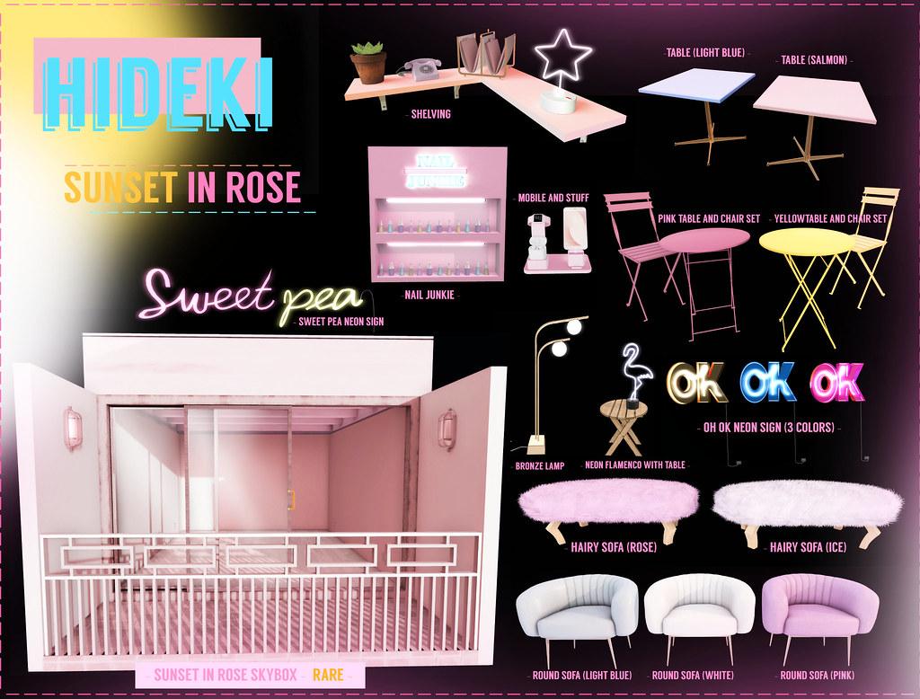 HIDEKI – SUNSET IN ROSE GACHA @ equal10