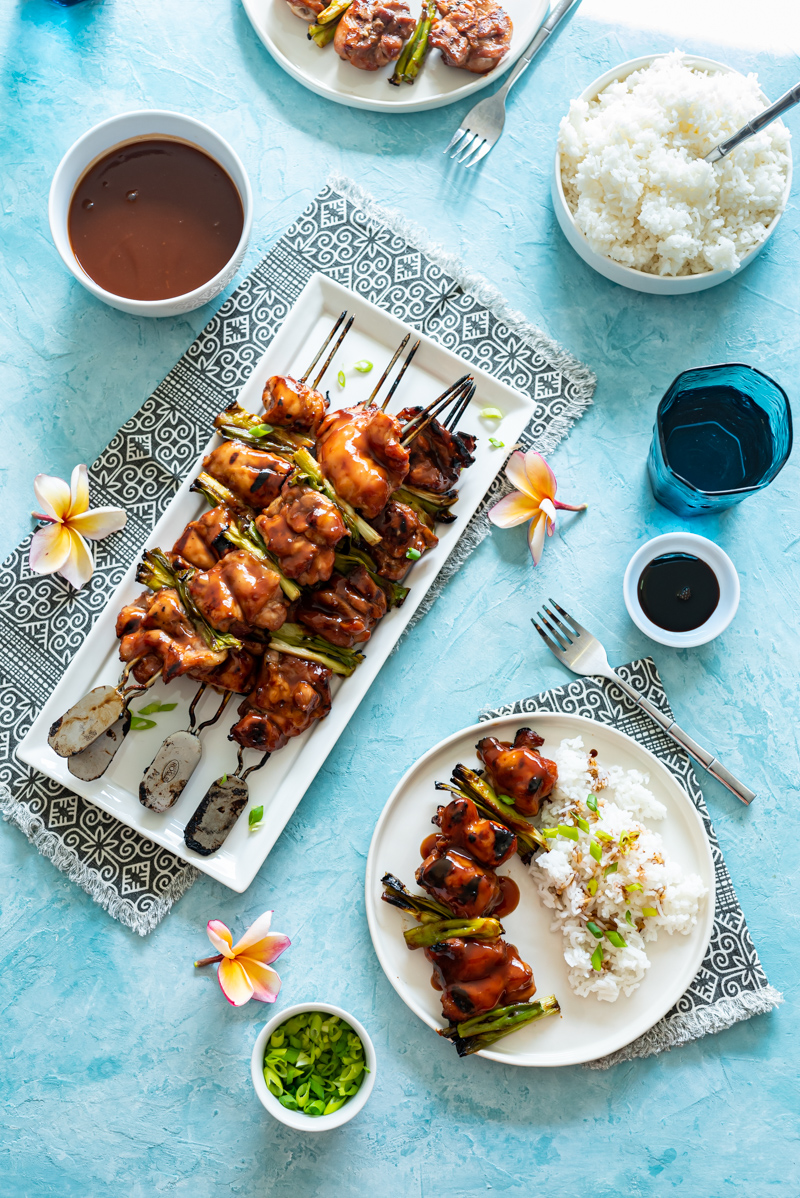 Sweet and Spicy Guava Chicken Skewers www.pineappleandcoconut.com