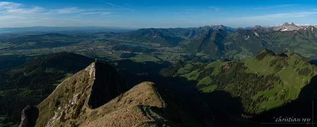 Panorama sur la basee Gruyère (Switzerland)