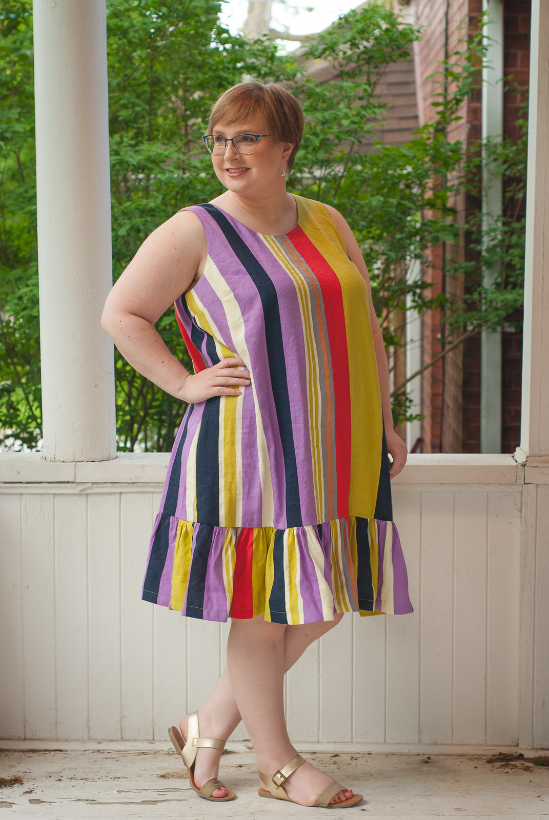 Linen Striped Ashton Dress