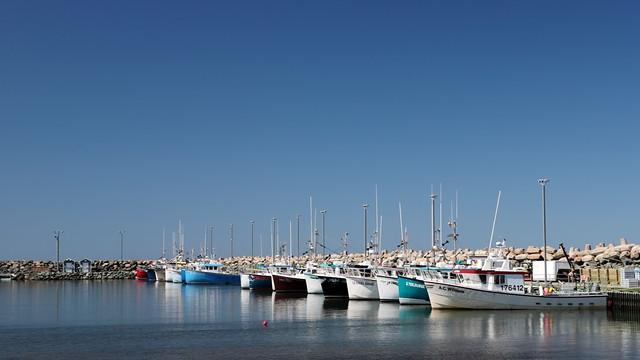 Un des nombreux ports de pêche aux Îles !