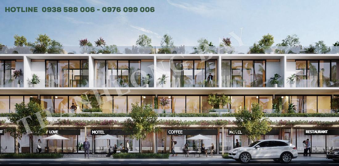 Thiết kế nhà phố thương mại biển shophouse Thanh Long Bay, Kê Gà, Bình Thuận.