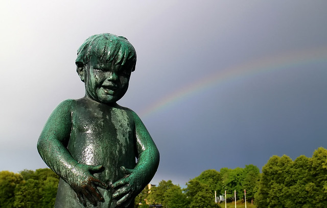 After the rain. Child