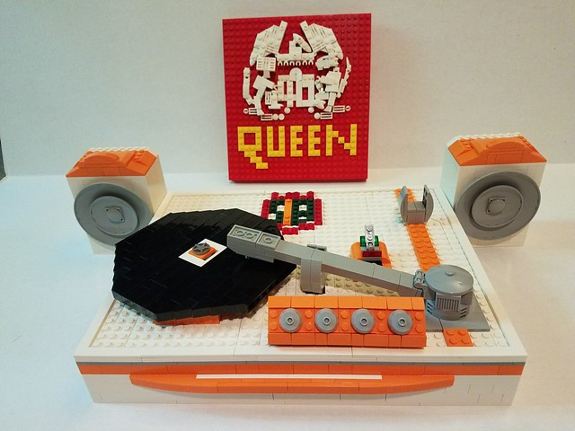 LEGO Record Player and Queen Record