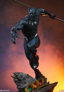 瓦干達帝王飛速奔馳的樣貌再現! Sideshow Collectibles Avengers Assemble 系列【黑豹】Black Panther 1/5 比例全身雕像作品