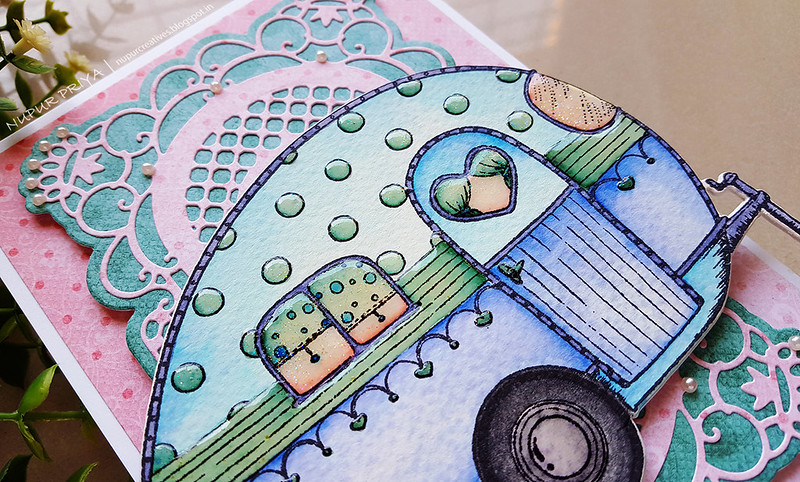 Pink And Blue Happy Camper Card_ Nupur Creatives_3