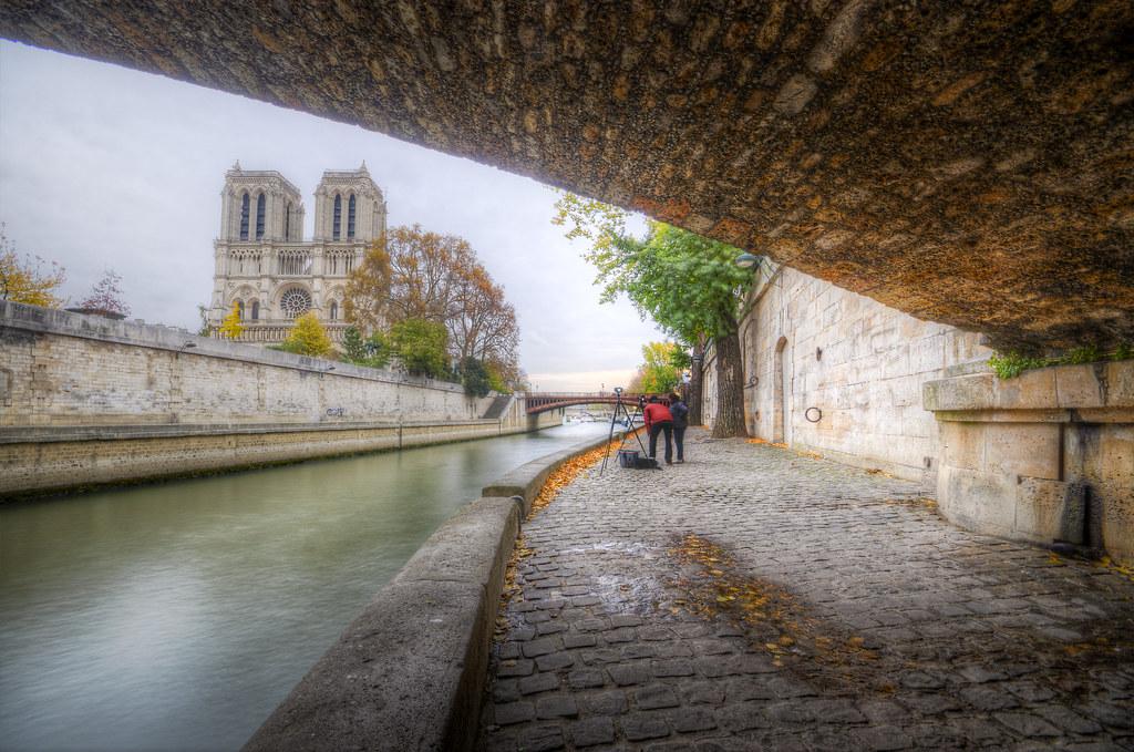 Notre Dame from Under le Petit Pont