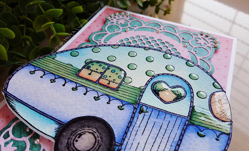 Pink And Blue Happy Camper Card_ Nupur Creatives_2