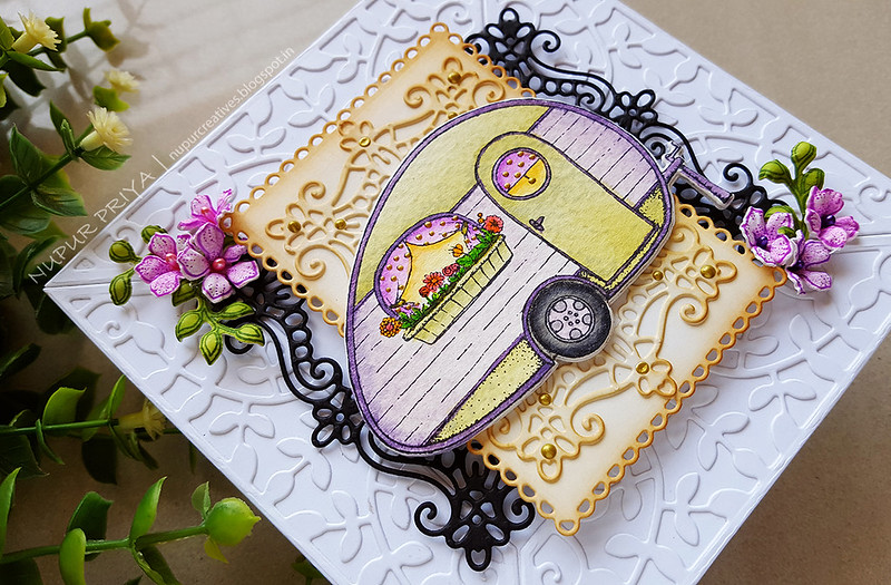 Floral Happy Camper Card_Nupur Creatives_2