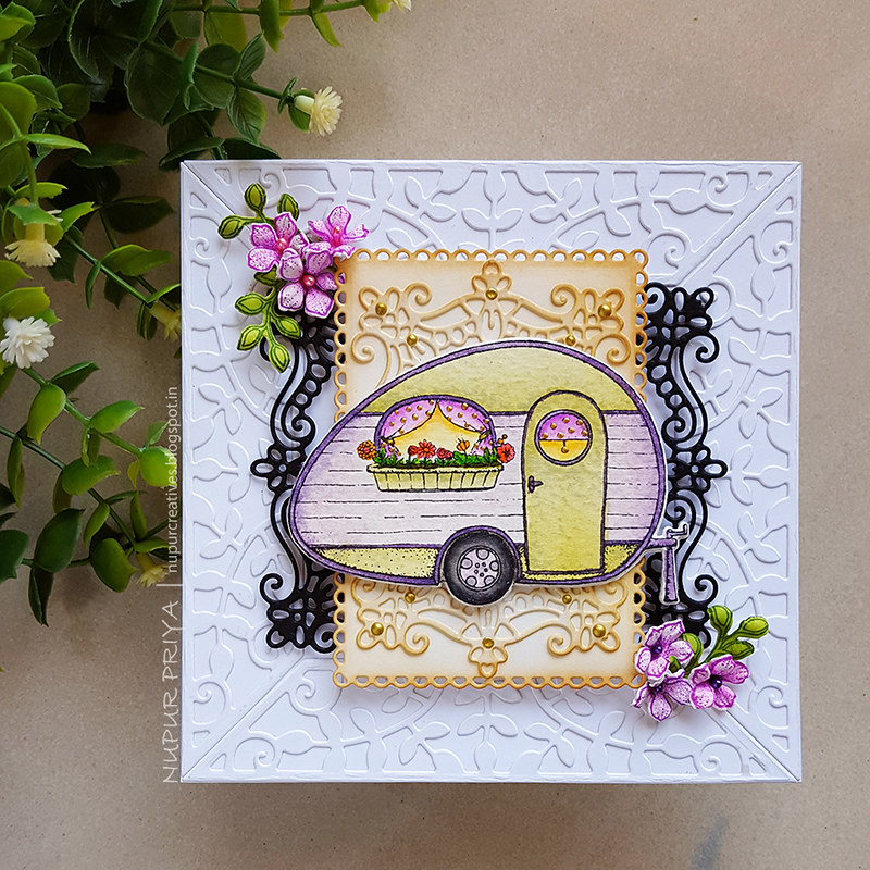 Floral Happy Camper Card_Nupur Creatives_1