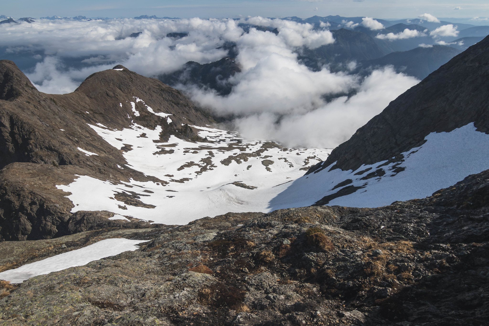Top of the lower snowfield