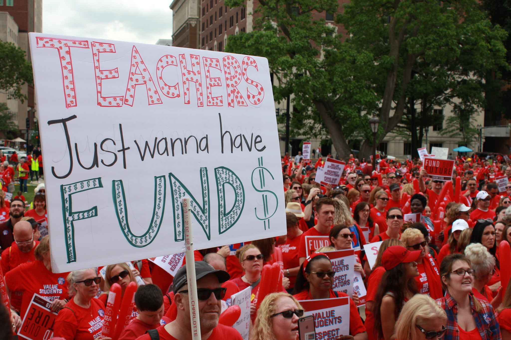 Michigan Educator's March to the Capitol to Demand Change