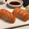 Salmon nigiri at Teppan Edo in #EPCOT #sushi #nigiri #japanpavillion #salmonnigiri #epcotfood